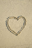 plażowy serce Obrazy Royalty Free