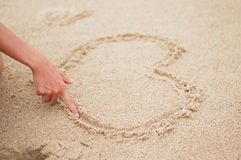 plażowy serce Zdjęcie Royalty Free