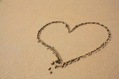 plażowy serce Obrazy Stock