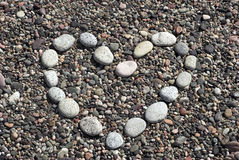 plażowy serce Obraz Royalty Free