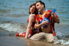 plażowy serendade Fotografia Stock