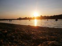 Plażowy Silver Lake Serbia obrazy stock