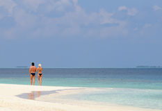 plażowy spacer obrazy stock