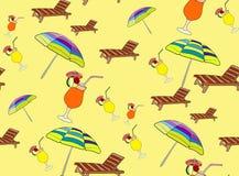 Plażowy stylowy bezszwowy wzór Zdjęcia Stock