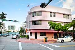 plażowy sztuki deco gromadzki Florida Miami usa Obrazy Stock