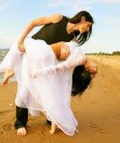 plażowy taniec obraz royalty free