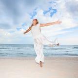 plażowy taniec Fotografia Royalty Free