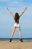 plażowy target1334_0_ Obrazy Stock