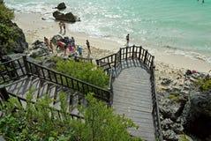 plażowy Tulum Meksyk Zdjęcia Stock