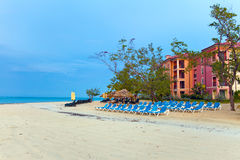plażowy wczesny pusty ranek Fotografia Stock