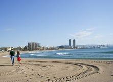 plażowy wczesny surowy spacer Obrazy Royalty Free