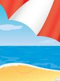 plażowy widok na ocean ilustracja wektor