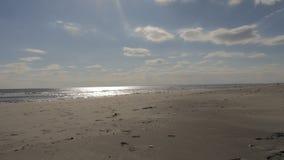 plażowy zdruzgotana Obrazy Stock