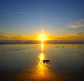 plażowy zmierzch Zdjęcia Stock
