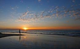 plażowy zmierzch Zdjęcia Royalty Free