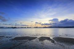 Plażowy zmierzch Xiamen Zdjęcie Stock