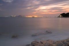 Plażowy zmierzchu afterglow Fotografia Stock