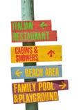 Plażowy znak Zdjęcia Stock