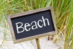 Plażowy znak Fotografia Royalty Free