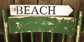 Plażowy znak Obraz Royalty Free