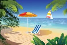 plażowy zwrotnik Zdjęcia Royalty Free