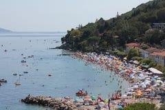 Plaża - panorama widok Zdjęcia Stock