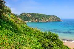Plaża Pechon, Cantabria, Hiszpania Zdjęcia Stock