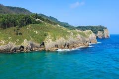 Plaża Pechon, Cantabria, Hiszpania Obraz Royalty Free