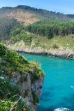 Plaża Pechon, Cantabria, Hiszpania Obrazy Stock