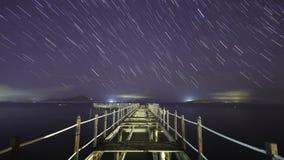 Plaża pod gwiazdy timelapse zbiory