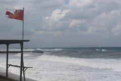 Plaża podczas burzy Fotografia Royalty Free