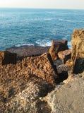 Plaża praia das maças sintra Zdjęcie Stock
