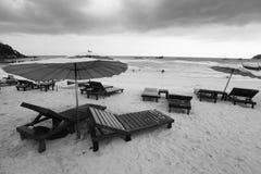 plaża przewodniczy parasole Fotografia Royalty Free