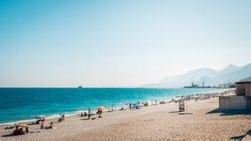 Plaża przy Antalya Turcja, schronienie Obrazy Stock