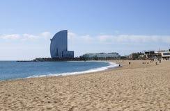 Plaża przy Barcelona. Hiszpania Zdjęcie Royalty Free