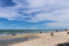 Plaża przy Cha Am w Tajlandia Zdjęcia Royalty Free