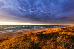 Plaża przy Hirtshals Zdjęcie Stock
