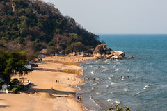 Plaża przy Jeziornym Malawi Obrazy Royalty Free