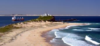 Plaża przy Newcastle Obrazy Royalty Free