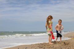 Plaża przy soendervig zdjęcie stock