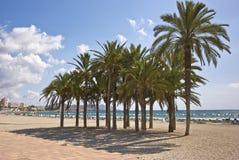 Plaża przy Villajoyosa Zdjęcia Stock