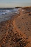 Plaża przy wieczór Zdjęcie Royalty Free