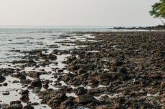 Plaża przy zmierzchem Zdjęcie Stock