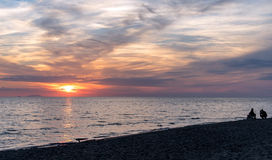 Plaża przy zmierzchem Fotografia Stock