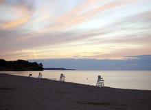 Plaża przy zmierzchem Zdjęcie Royalty Free