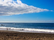 Plaża Puerto De La Cruz, Tenerife Fotografia Royalty Free