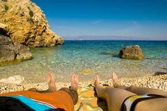 plaża relaksuje Zdjęcie Stock