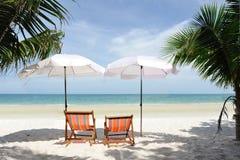 plaża relaksuje Zdjęcia Royalty Free