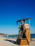 Plaża salinas, Ibiza, Hiszpania Obrazy Royalty Free