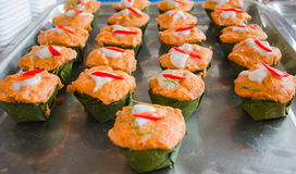 Pla tailandês de Hoh Mok do alimento Imagens de Stock Royalty Free